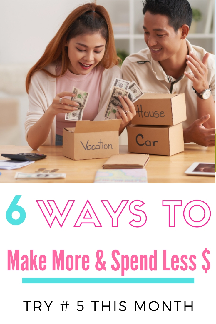 Tackling your finances doesn't have to be overwhelming. This month we're sharing 3 tips to make money + 3 tips to save money. So whether you're looking for strategies to save money quickly or make money quickly, you'll find practical ideas you can start doing today. #savemoney #moneygoals #financialfreedom #makemoney