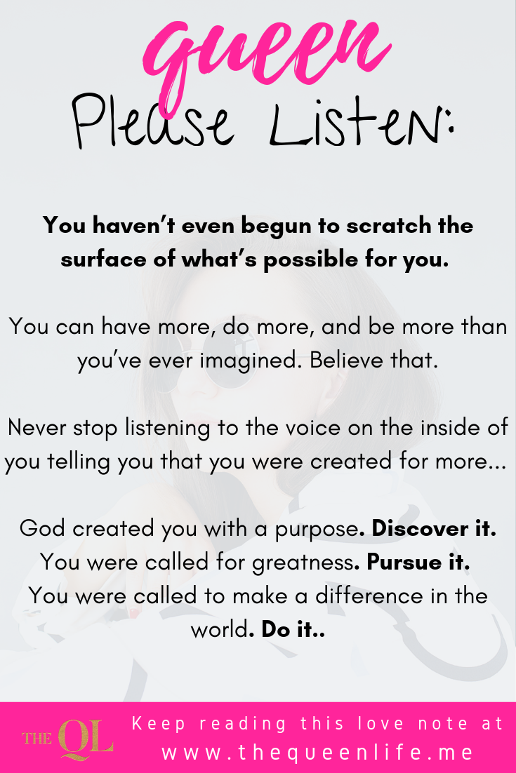 "Poster with excerpt from ""love note: you're destined for greatness"""