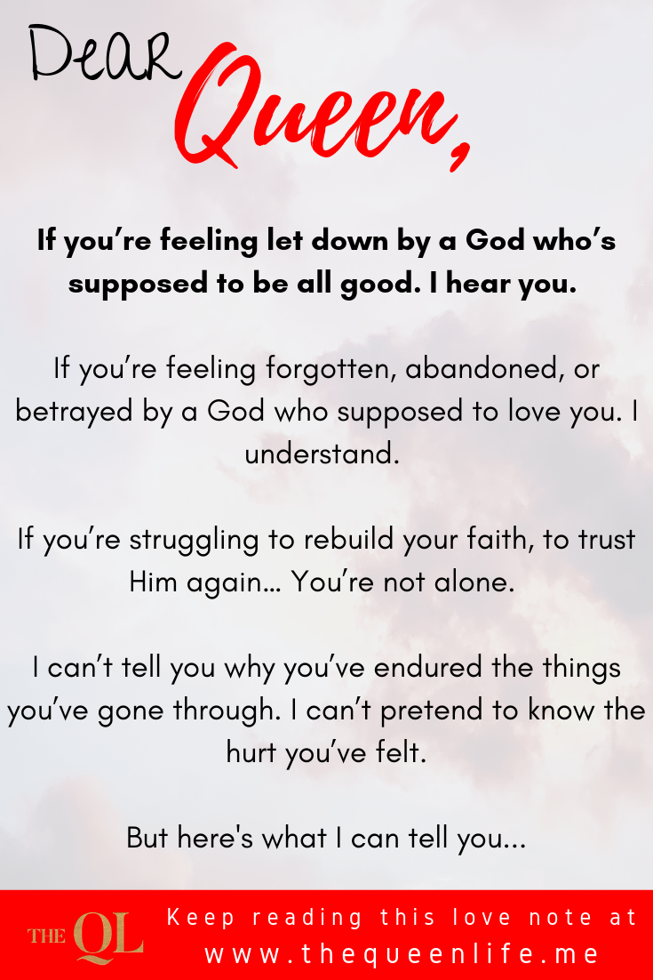 "Poster with excerpt from ""love note to the queen feeling disappointed by god"""