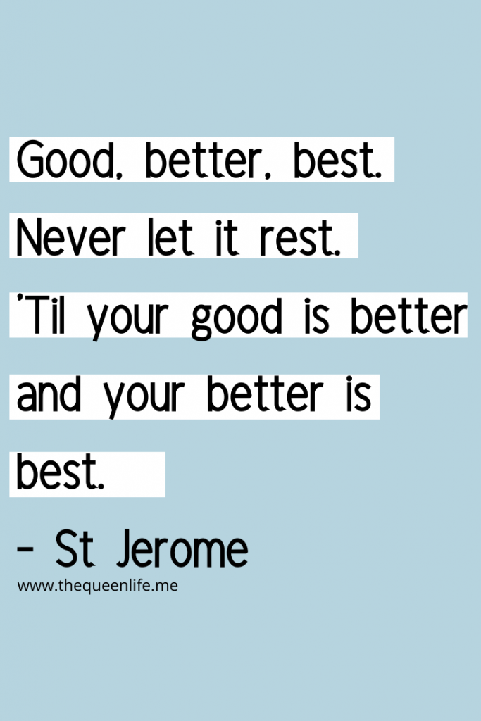 "Saint Jerome quote included in the ""New month, new goals"" article"