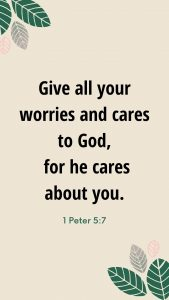 1 Peter 5:7 Wallpaper for Blog Post on Bible Verses for Grief