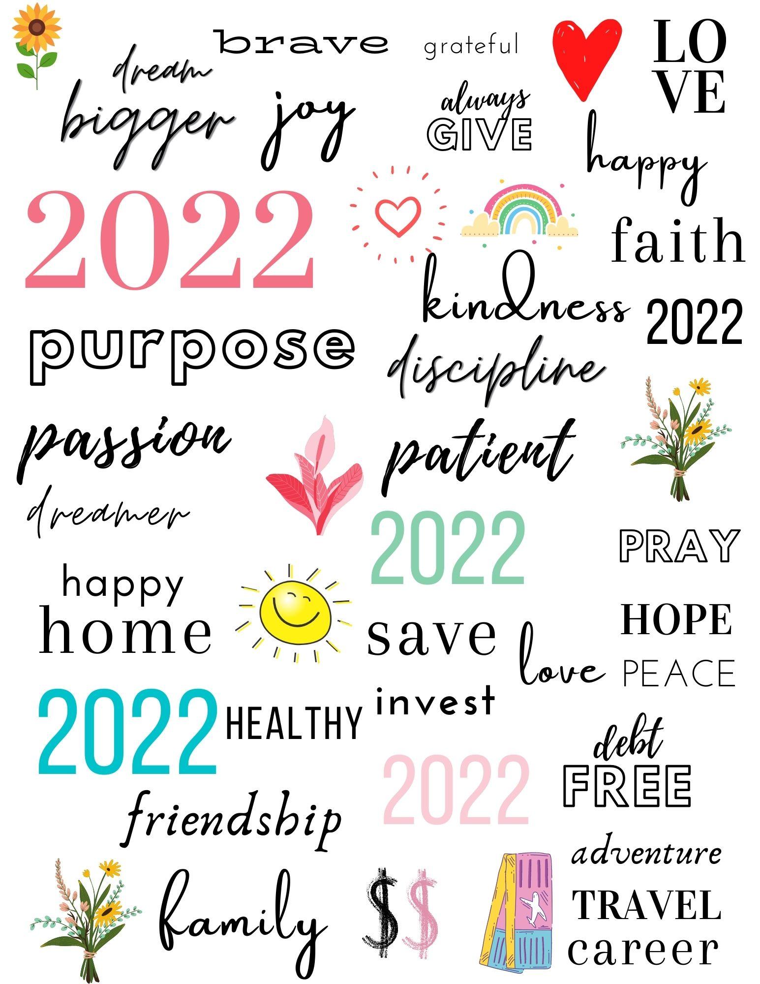 44 Beautiful & Inspiring Vision Board Printables
