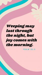 Psalm 30:5 Wallpaper for Blog Post on Bible Verses for Grief