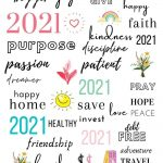 2021 Vision Board Printables