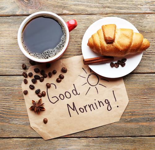 Sweet Handwritten Note next to breakfast spread