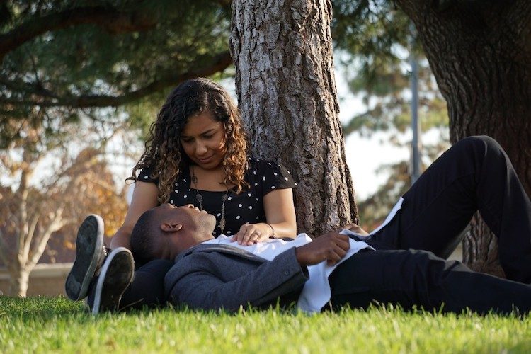 Couple on a Date at a Park having a nice romantic time - Image for Conversation Starters Post for Dating Couples