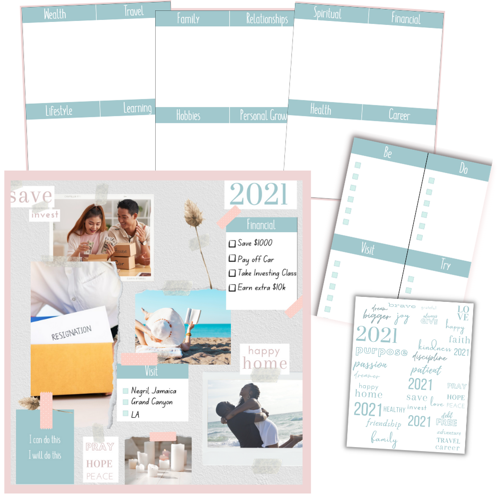 Vision Board Printable Pack Cover Image