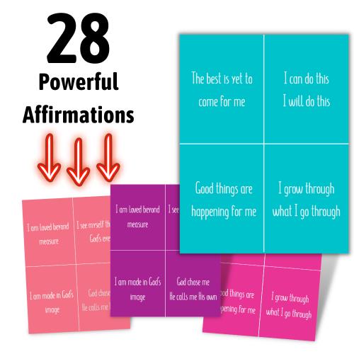 Affirmation Card Printables