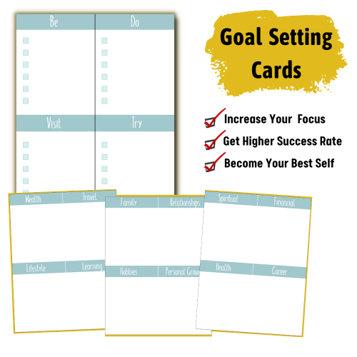 Printable Goal Setting Cards